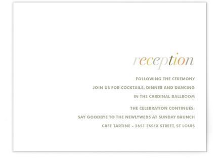 Tonality Reception Cards