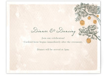 Whimsical Tree with Lanterns Reception Cards