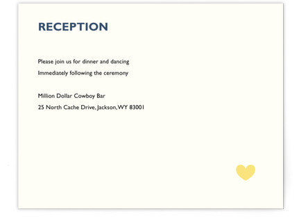 Two Grooms Destination Reception Cards