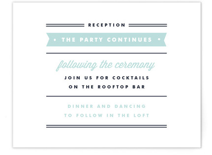 Posted Reception Cards