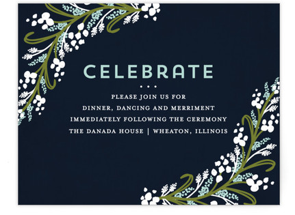 Midnight Floral Reception Cards