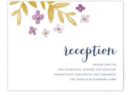 Fresh Cut Reception Cards