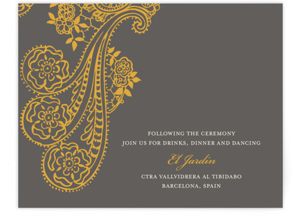 Spanish Lace Reception Cards