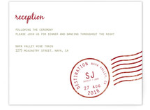 A Faraway Destination Reception Cards