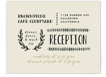 Organic Elegance Reception Cards