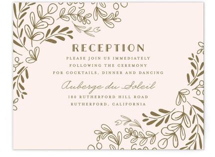 Wedding Vines Reception Cards