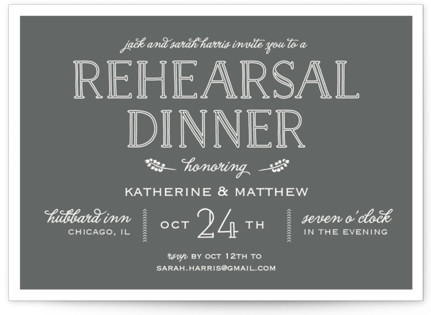 Modern Delineation Rehearsal Dinner Invitations