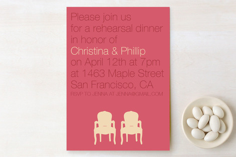 Modern Delight Rehearsal Dinner Invitations