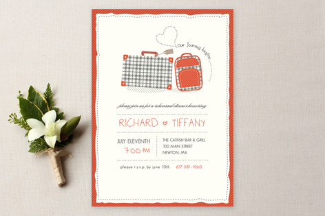 Our Journey Rehearsal Dinner Invitations