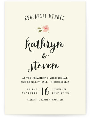 Beginning Rehearsal Dinner Invitations