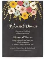 Plentiful Blossoms Rehearsal Dinner Invitations