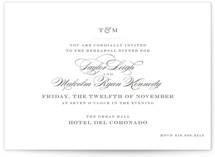 Charming Go Lightly Rehearsal Dinner Invitations