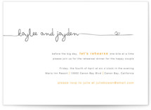 The Happy Couple Rehearsal Dinner Invitations