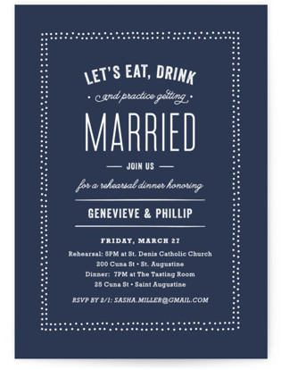 Cheers! Rehearsal Dinner Invitations