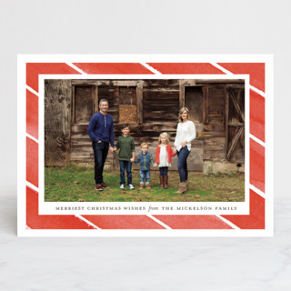 Candy Stripes Christmas Photo Cards