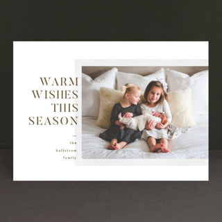 Modern Block Christmas Photo Cards