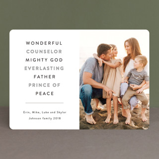 Wonderful Counselor Christmas Photo Cards