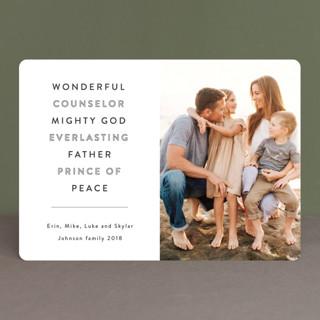 Wonderful Counselor Christmas Photo Cards