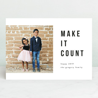 make it count New Year's Photo Cards