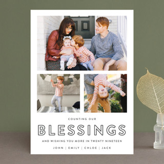 Counting Our Blessings New Year's Photo Cards