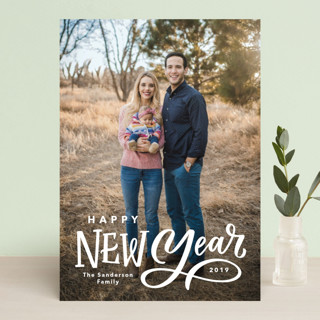 Lettered New Year New Year's Photo Cards