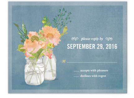 Bouquet D'Amour RSVP Postcards
