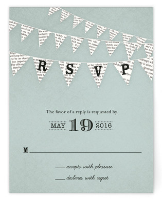 Love Story RSVP Postcards