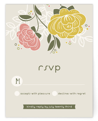 Breezy Bouquet RSVP Postcards