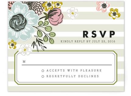 Seed Packet RSVP Postcards