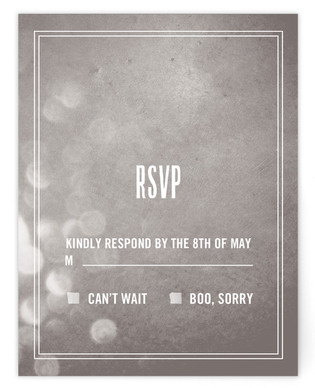Bokeh Bride RSVP Postcards