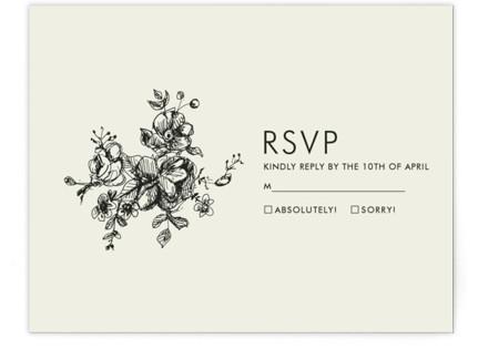 Elegance Illustrated RSVP Postcards