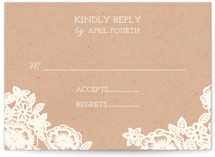 Lace and Kraft RSVP Postcards