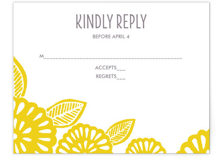 Bold Block Print RSVP Postcards