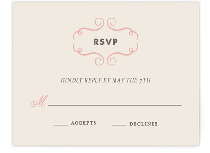 Delicate Ampersand RSVP Postcards