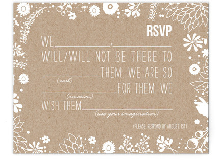 Craft and Florals RSVP Postcards