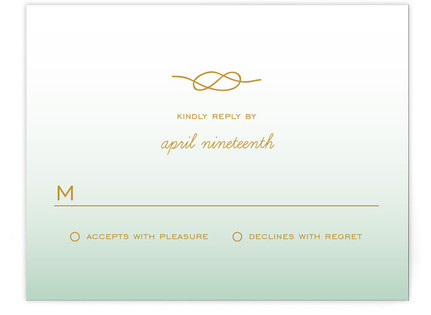 Simple Knot RSVP Postcards