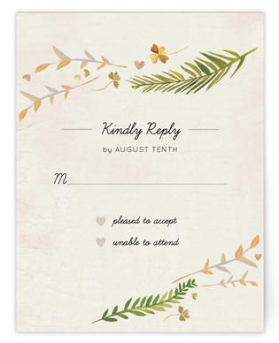 Leaf Specimen RSVP Postcards