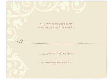 Elegant Flourish RSVP Postcards