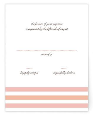 Float + Sweetie Stripe RSVP Postcards