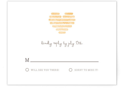 Honeycomb Heart RSVP Cards