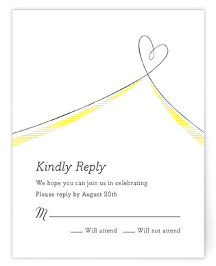 Heart Aflutter RSVP Cards