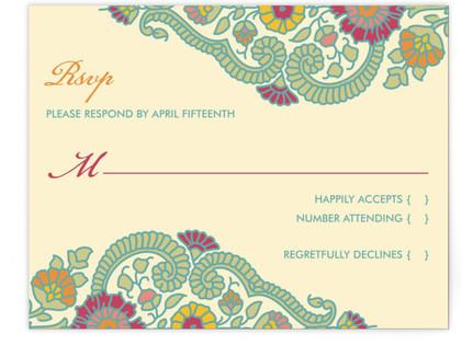 Modern Maharani RSVP Cards