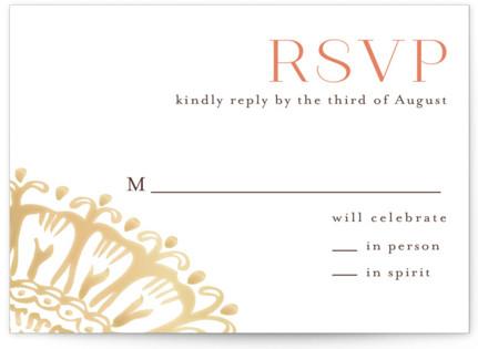Modern Mehndi RSVP Cards