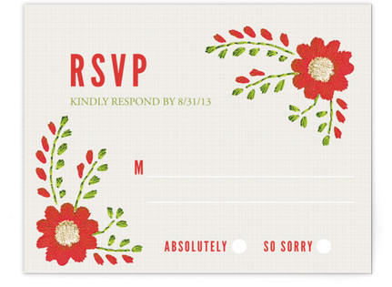 Mexican Ties RSVP Cards