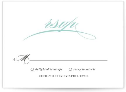 Cordial Flourish RSVP Cards