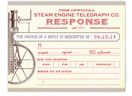 Steampunk RSVP Cards
