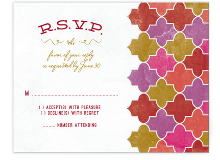 A Wedding in Marrakesh RSVP Cards