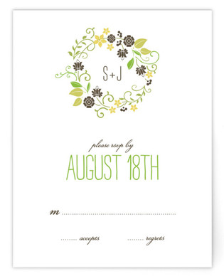 A Bloomin' Wreath RSVP Cards