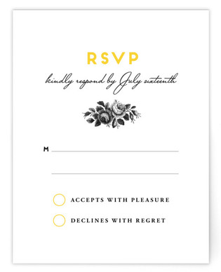 Bouquet Monogram RSVP Cards