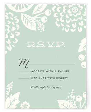 Floral Silhouette RSVP Cards